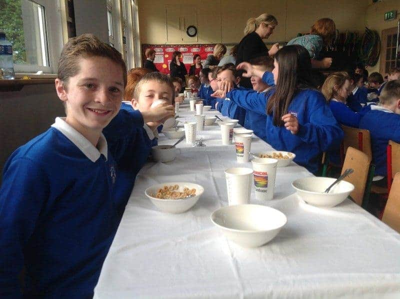 Last breakfast morning for 6th class